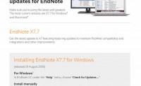 EndNote v7.7.1升级地址